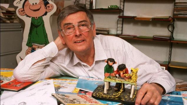 André Franquin, le créateur de Gaston Lagaffe, en 1996