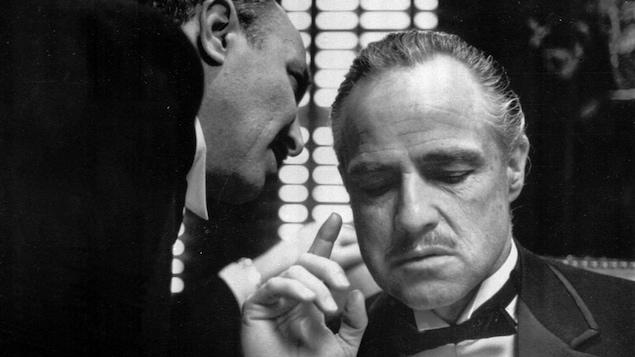 Marlon Brando, dans le premier volet de la trilogie Le Parrain, en 1972