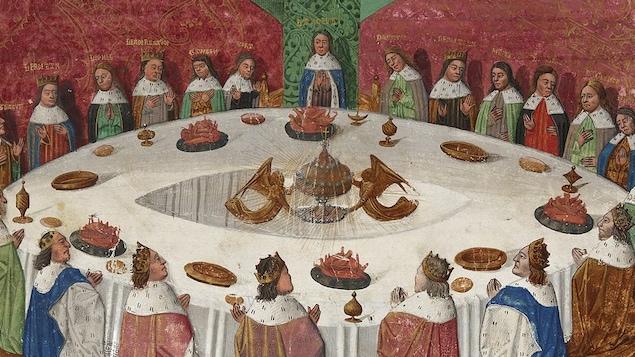 La l gende du roi arthur et des chevaliers de la table - Lancelot et les chevaliers de la table ronde ...