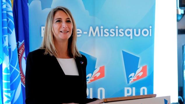 La candidate du PLQ Ingrid Marini dans Brome-Missisquoi