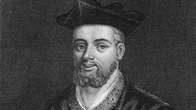 Portrait de l'érudit avec une chapeau sur la tête