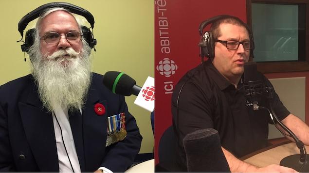 Jean Guillemette et Daniel Michaud, anciens membres des Forces armées canadiennes