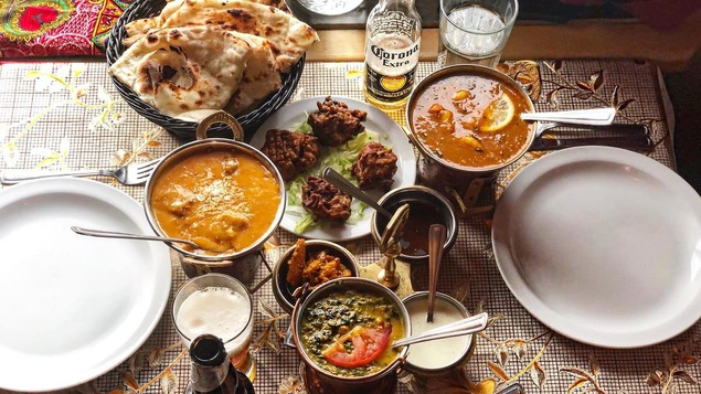Des plats offerts au restaurant Taj Mahal de Shawinigan.