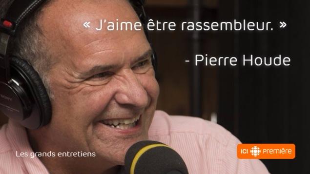 Un extrait de l'entrevue de Marie-France Bazzo avec Pierre Houde