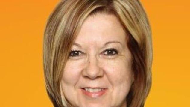 La candidate Lynn Beaulieu du NPD dans Gaspésie-Îles-de-la-Madeleine.