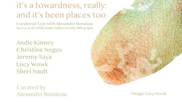Image promotionnelle de l'exposition « it's a towardness, really: and it's been places too »