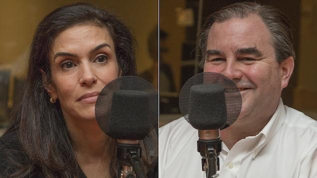 Helen Antoniou et Andrew Molson au micro de Catherine Perrin.