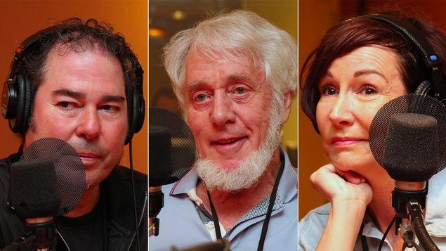 La musicien Jamil Azzaoui, le retraité d'Hydro-Québec Roch Lafrance et l'animatrice Josée Boudreault racontent comment ils vivent au quotidien après avoir été frappés par un ACV.