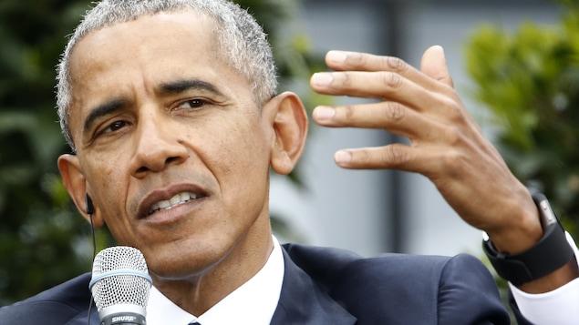Barack Obama, l'ancien président des États-Unis, en mai 2017