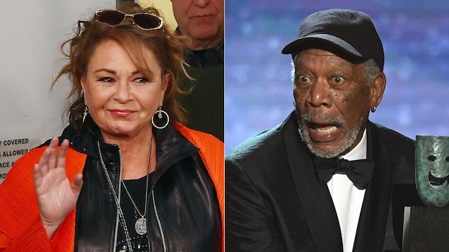 Roseanne Barr et Morgan Freeman