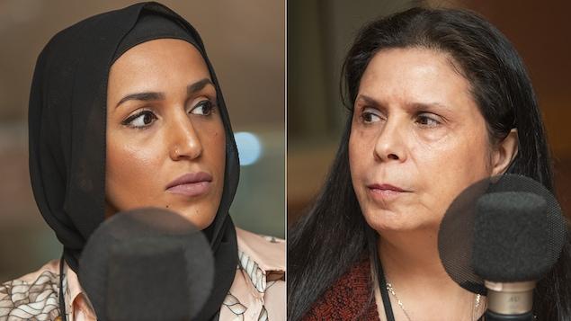 Chahira Battou et Djamila Addar au micro de Catherine Perrin.