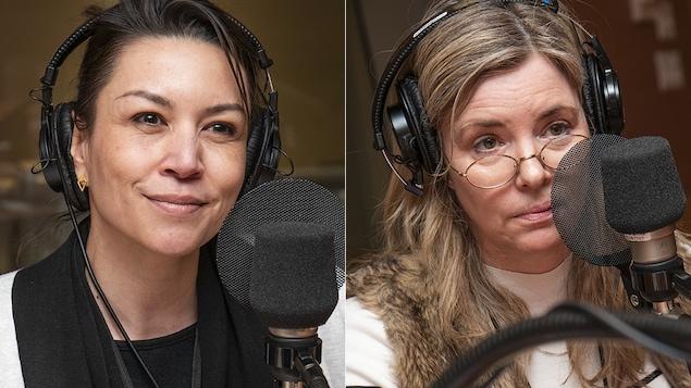 Catalina Briceno et Marie-Claude Ducas au micro d'Isabelle Craig.