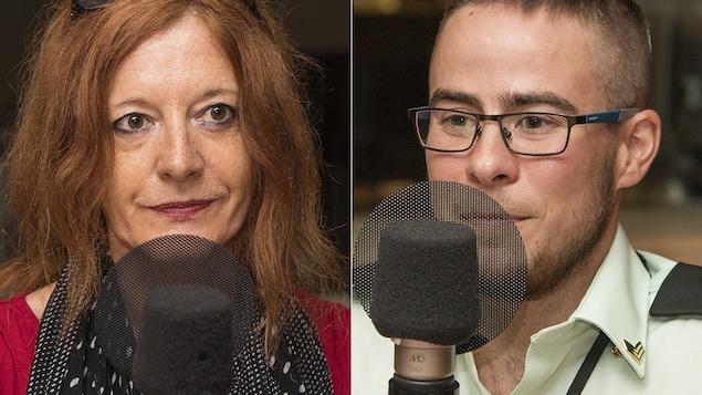 Doris Buttignol et Vincent-Gabriel Lamarre au micro de Stéphan Bureau.