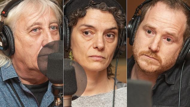 Mo Carpels, Nadine Walsh et François Lavallée au micro de Catherine Perrin.