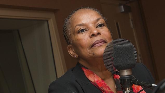 Christiane Taubira au micro de Catherine Perrin