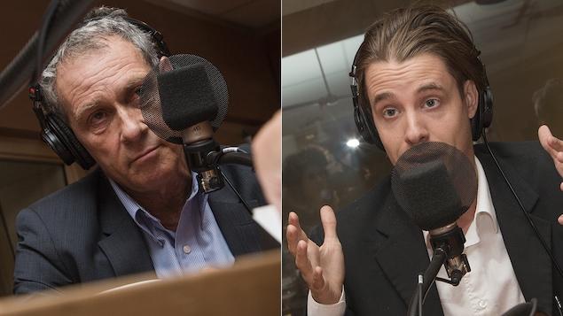 Michel Cormier et Simon Tremblay-Pepin au micro de Catherine Perrin