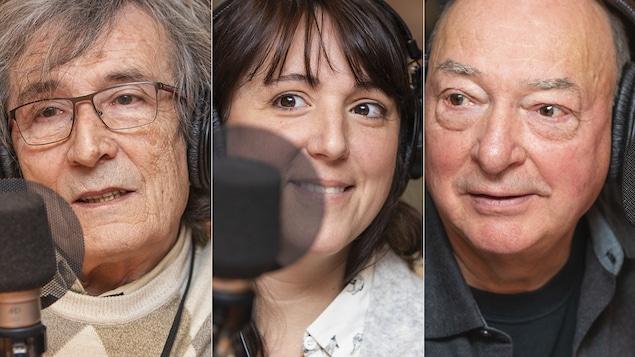 Patrice Dauzet, Myriam Gélinas et Pierre Gingras au micro de Catherine Perrin.