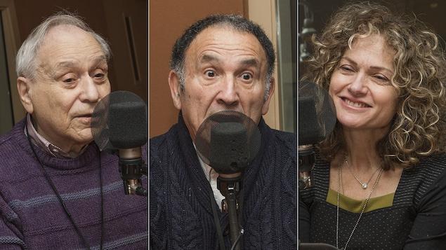Elie Dawang, Léon Celemenski et Monique Polak au micro de Catherine Perrin