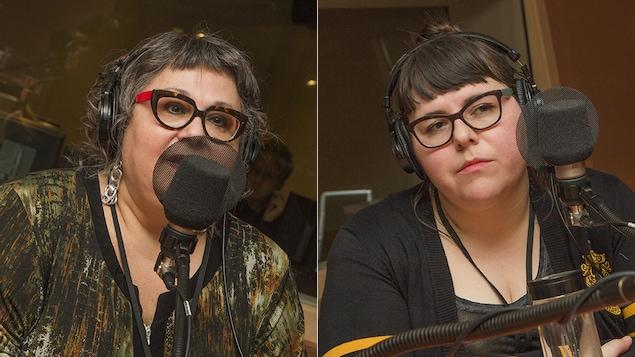 Linda Dion et Julie Artacho au micro de Catherine Perrin