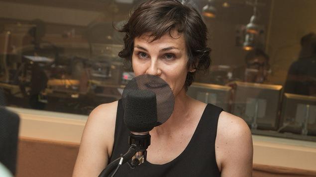 Dominique Leclerc au micro de Stéphan Bureau