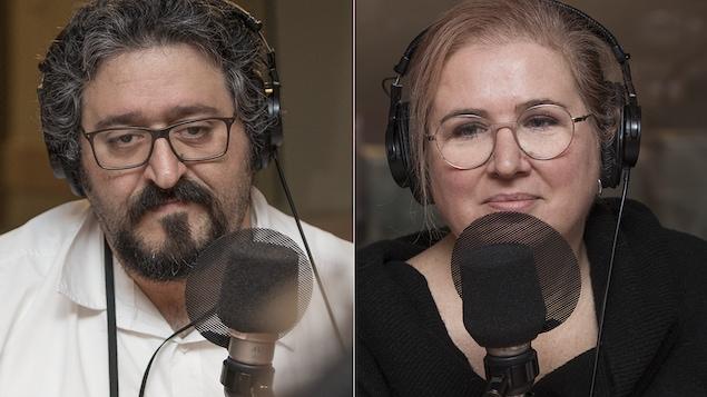 Ghassan El Baalbaki et Nadia Seraiocco au micro de Catherine Perrin.