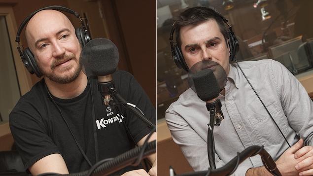 Daniel Jonathan Laroche et Mathieu Papillon au micro de Catherine Perrin