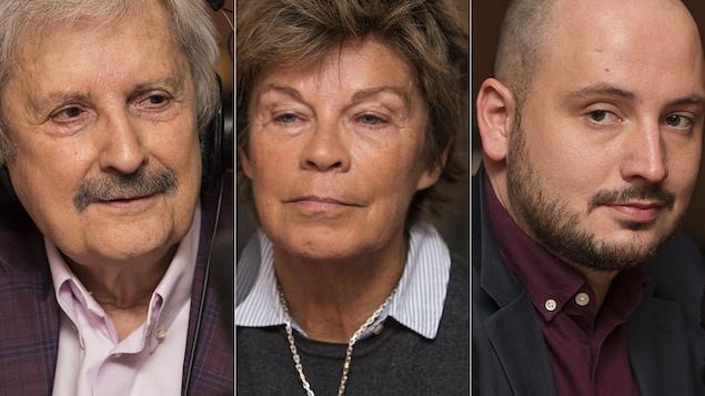André Laurendeau, Louise Beaudoin et Christophe Cloutier-Roy au micro de Catherine Perrin.