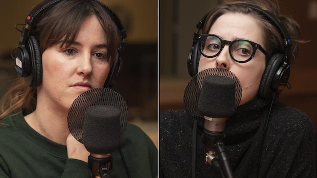 Florence Longpré et Ève Landry au micro de Catherine Perrin.