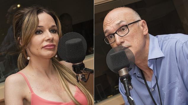 Dr Marie-Ève Cotton et Marcelo Otero au micro de Stéphan Bureau