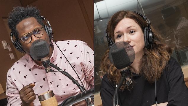 Meeker Guerrier et Léa Stréliski au micro de Marie Grégoire