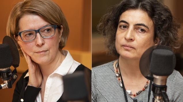 Pascale Navarro et Nadia El-Mabrouk au micro de Catherine Perrin.