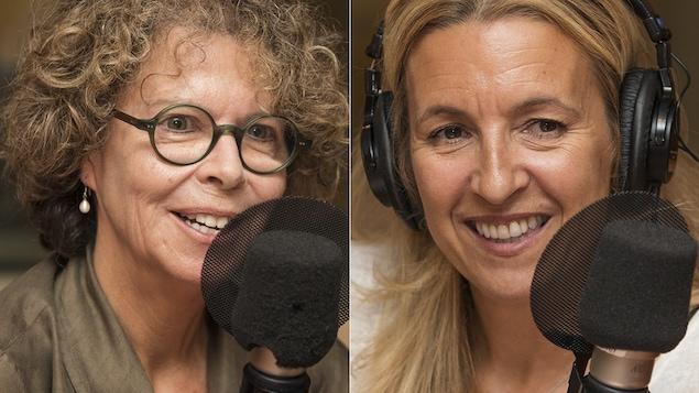 Isabelle Peretz et Sonia Lupien au micro de Catherine Perrin.