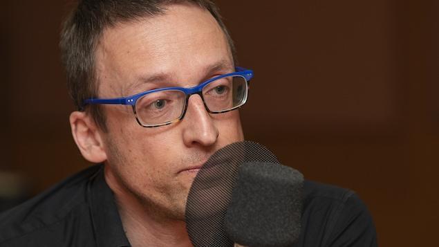 Stéphane Proulx au micro de Catherine Perrin.