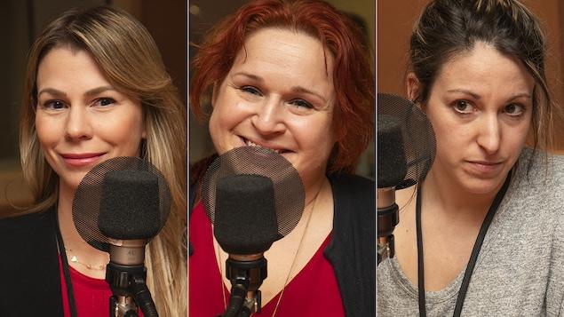 Isabelle Robidas, Marianne Bélanger et Tanya Izquierdo Prindle au micro de Catherine Perrin.