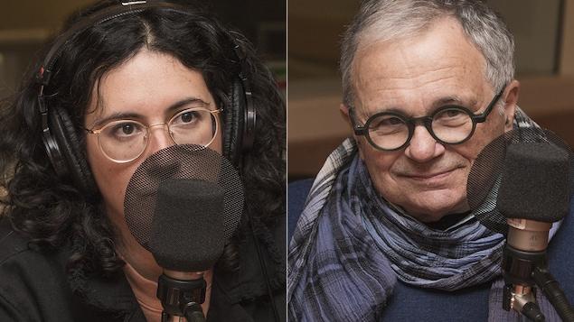 Alexandra et Jean-Jacques Stréliski au micro de Catherine Perrin.