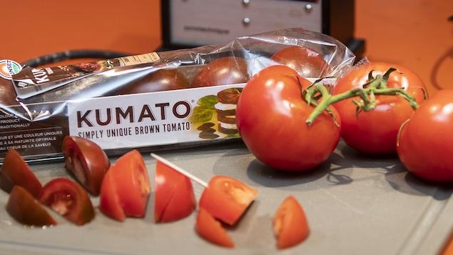 Sélection de tomates apportées par le journaliste Pierre Gingras.