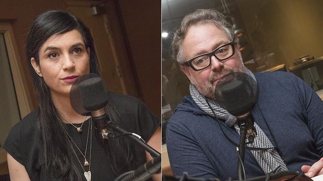 Debbie Zakaib et Alexandre Taillefer au micro de Catherine Perrin