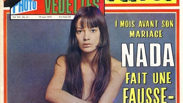 Une photo de Nada avec le titre : « 1 mois avant son mariage, Nada fait une fausse-couche. »