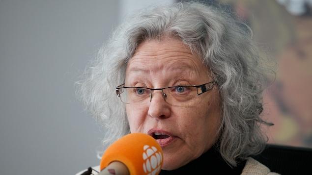Pierrette Lafond, en studio