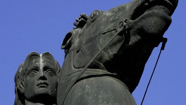 Une statue d'Alexandre le Grand, prise en photo en 2004 dans la ville grecque de Thessalonique.