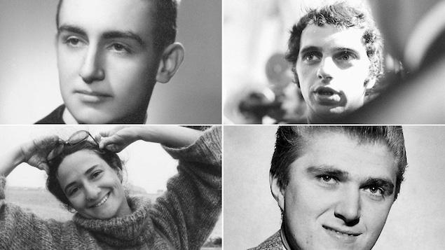 Lucien Bouchard, Claude Charron, Marie Laberge et Alain Stanké, dans leur vingtaine