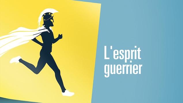 Illustration d'un guerrier spartiate en train de courir.