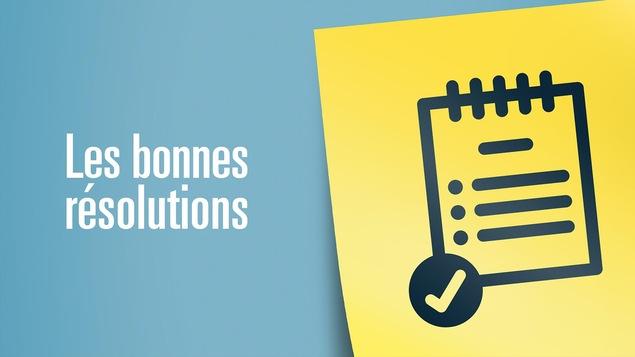 Illustration d'une liste pour représenter les bonnes résolutions.