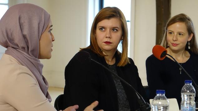 Selma Idjeraoui, Laurence Saint-Jean et Lara Emond