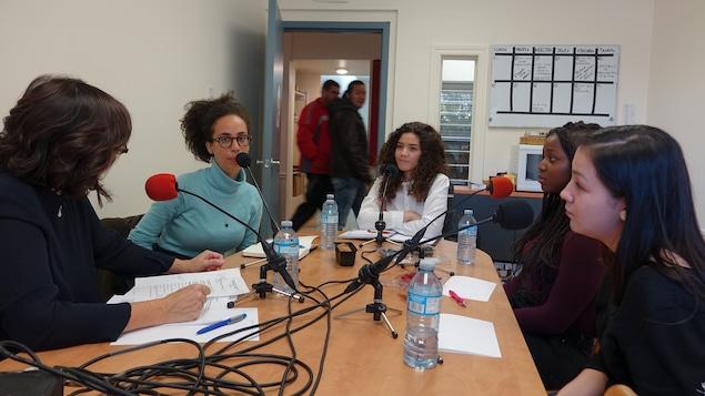 Marie Grégoire, Émilie Nicolas, Lynda Haddoud, Lynda Ishimwe et Olivia Lya Thomassie