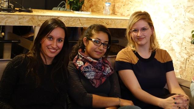 Sarah-Émilie Bouchard, Hind Fazazi et Catherine Genest