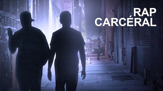 Silhouette de 2 hommes qui marche dans une ruelle urbaine.