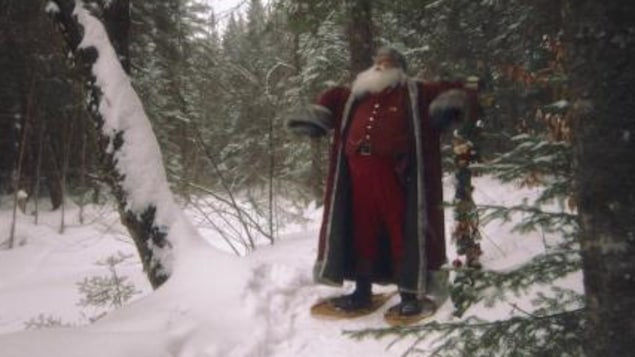 Nicolas Noël et ses raquettes à neige
