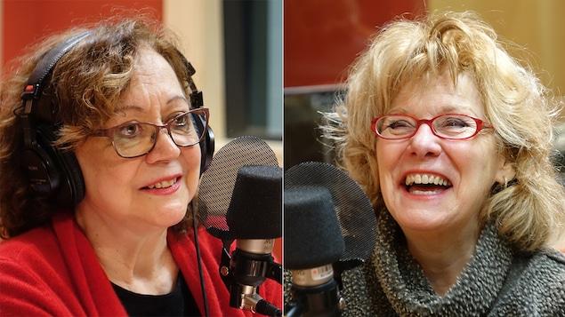 Pauline Martin et Michèle Deslauriers