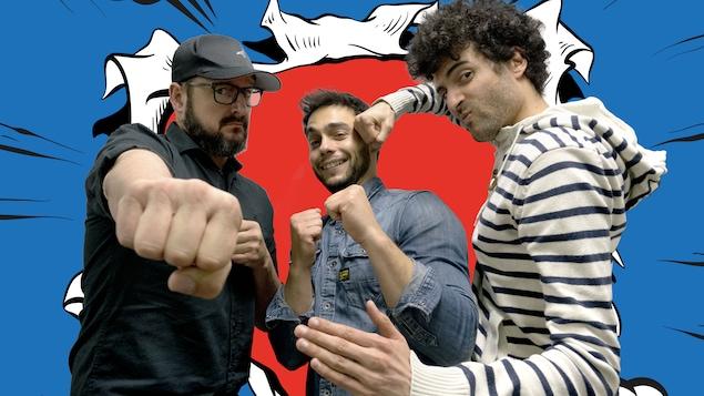 Les comédiens Rémi-Pierre Paquin et Pierre-Paul Alain sont les invités d'Alex Fredo dans le ring des <i>Petites anecdotes</i>.